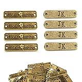 Aweisile Handmade Botones 100 piezas Botones de Metal Hechos a Mano con Dos...