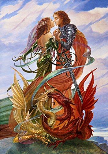 Romantische Drachen Handfasting FANTASY Grußkarte