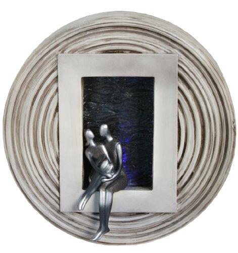 Romantik Zimmerbrunnen Wandbrunnen mit LED Licht Wandmontage Durchmesser ca.37cm Trendyshop365