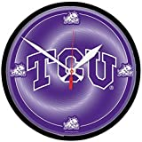 NCAA TCU Horned Frogs WinCraft Official Round Clock