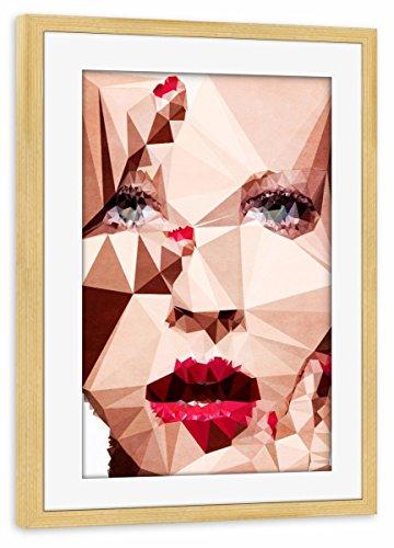 artboxONE Poster mit Rahmen Kiefer 75x50 cm Oooooh My Gosh von Boris Draschoff - gerahmtes Poster