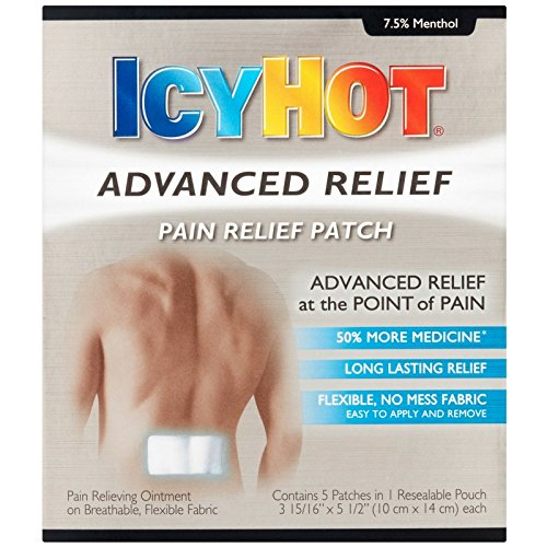 ICY HOT Advanced Pain Relief Patch 5 ea (Pack of 3)