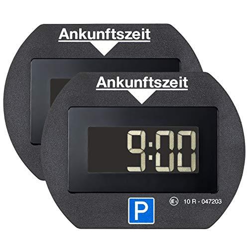 Preisvergleich Produktbild Needit 2X Park Lite elektronische Parkscheibe Digitale Parkuhr schwarz mit offizieller Zulassung vom KBA - 2 Stück Spar Set