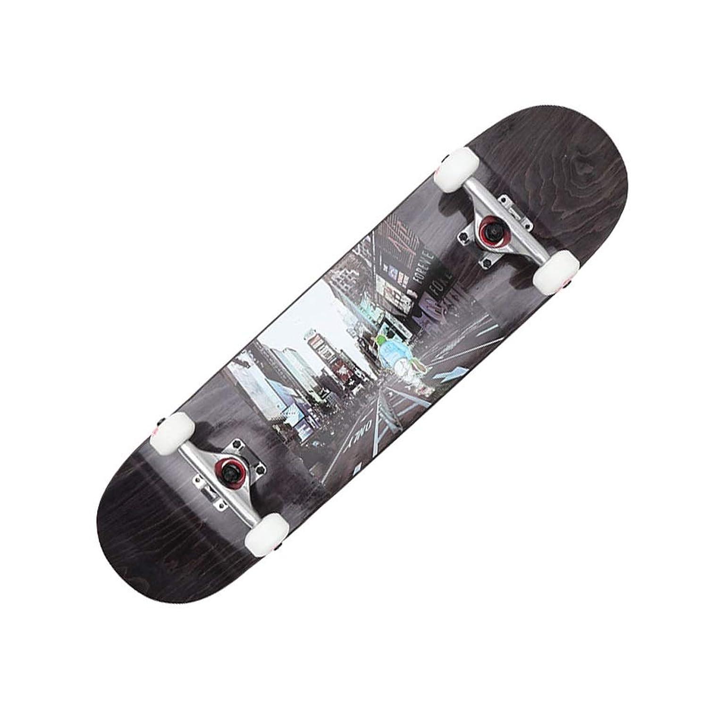 LIUFS-スケートボード プロスケートボード初心者コンプリートスケートボードメープルダブルロッカースタンダードスキルスケートボード子供 - ブラシストリート