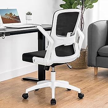 ComHoma White Mesh Office Chair-Modern Ergonomic Desk Chair