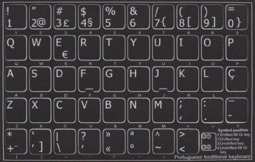Toetsen, zelfklevend, voor Portugees/keyboard, stickers