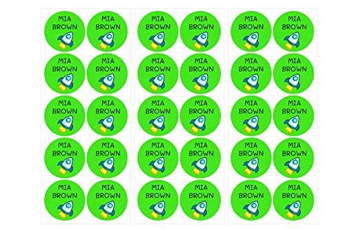28 Etiquetas adhesivas multiusos. Pegatinas redondas de diámetro de 3 cms. Color Verde Claro