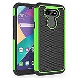SYONER Shockproof Phone Case Cover for LG Aristo 5 / LG Aristo 5+ / LG Fortune 3 / LG Risio 4 / LG Phoenix 5 / LG K8X / LG K31 / LG Tribute Monarch (5.7', 2020) [Green]