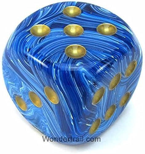 Envío y cambio gratis. azul Vortex With oro oro oro Pips 50mm (2in) D6 Die Chessex by Chessex Dice  ¡No dudes! ¡Compra ahora!