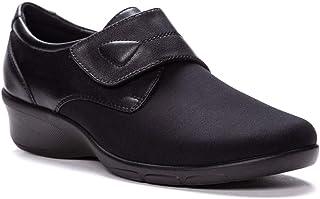 حذاء Wilma Oxford المسطح للنساء من Propet، أسود، عرض 7
