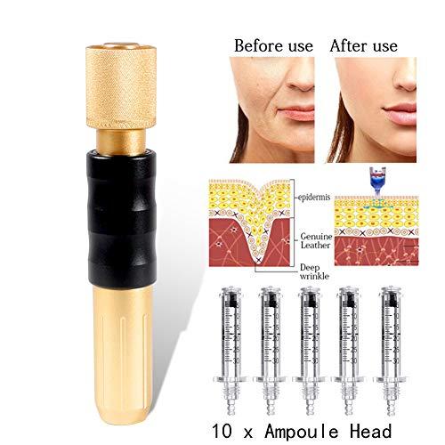 Hyaluron Penna 0,3 Ml 10 X Fiala Testa Ialuronico Acido Labbro Filler No-Ago Iniezione Pistola Ruga Anti Invecchiamento Pelle Cura per Viso