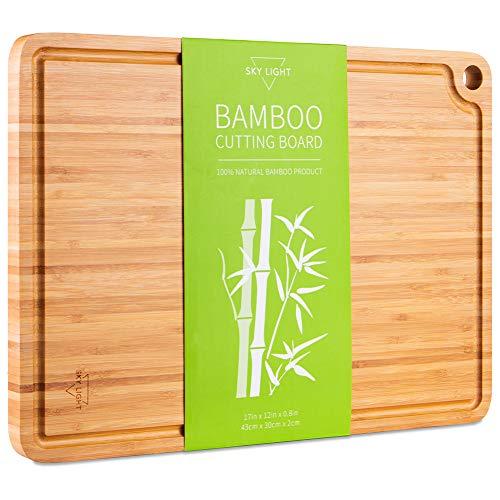 SKY LIGHT Planche à découper en Bambou Biologique (43...