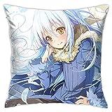 KINGAM That Time I Got Reencarnated as A Slime Anime Funda de almohada decorativa Hentai Waifu para sofá de casa 45,7 x 45,7 cm