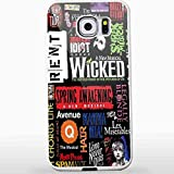Broadway Musical Collage for Iphone and Samsung Galaxy Case (Samsung Galaxy S7 Edge white) CCCM1124