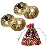 Danza del Ventre Dito Piatti Giocattolo a Percussione Finger Zills Strumento Musicale in Rame, 2 Paia (Rame)