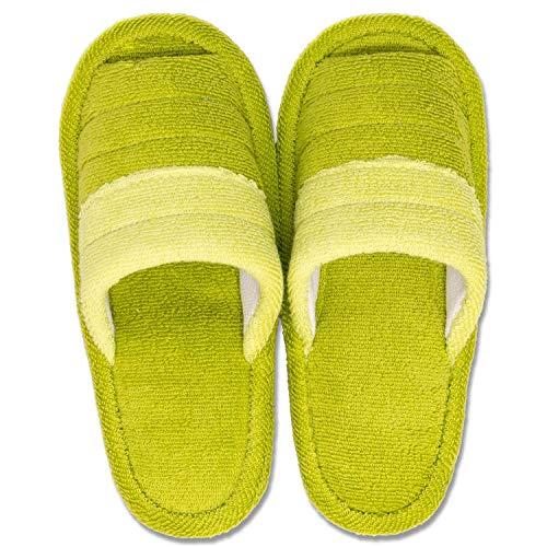 オカ(OKA) スリッパ グリーン 足のサイズ 約25cmまで フレッシュデオ 洗える
