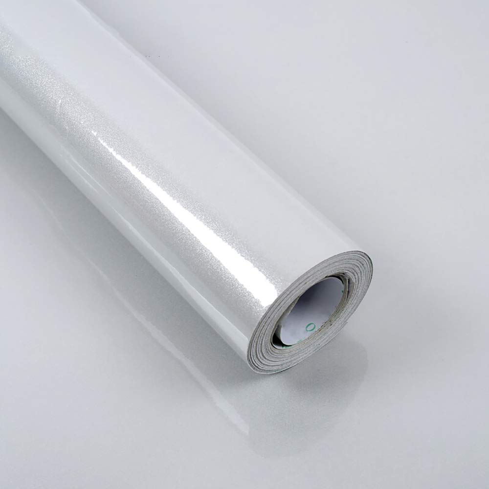 Hode Self Adhesive Wallpaper Glitter Grey 60cmX5m Sticky Back Plastic Roll Waterproof Peel and Stick for Kitchen Bedroom Furniture Shelf Liner Table Easy to Install and Remove