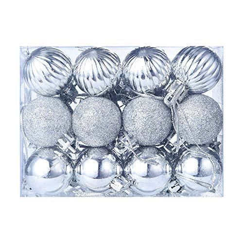 FossenHyC Bolas de Navidad Decoradas de Colores - 24pc Decoración Navideña Arbol Adorno - Decoracion Navidad...