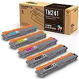 STAROVER Cartucho de Tóner Compatible Repuesto para Brother TN241 TN245 para DCP-9020CDW DCP-9015CDW HL-3140CW HL-3150CDW HL-3170CDW MFC-9130CW MFC-9140CDN MFC-9330CDW MFC-9340CDW (5 Paquete)