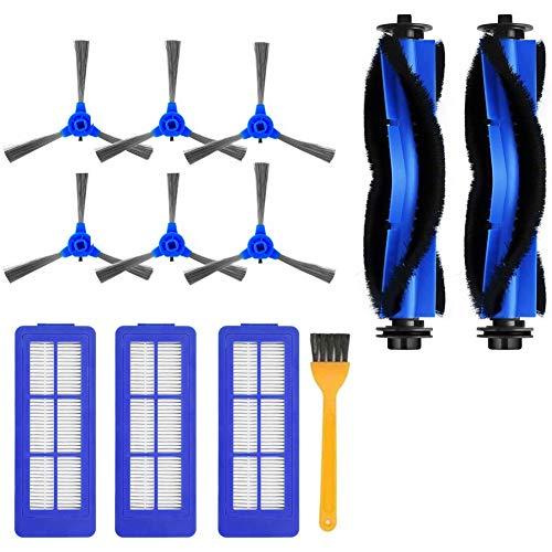 Basage Juego para RoboVac 11S MAX, RoboVac 30C MAX, RoboVac G10, RoboVac G30, 13 Piezas de Repuesto Filtro de Cepillo