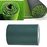 Raguso Tapete de jardín Cinta de césped 150mm * 10m Cinta de césped Artificial Cinta de césped Artificial para césped(Green)