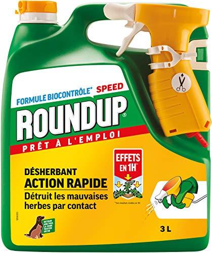 pas cher un bon Herbicide tout usage Roundup, prêt à l'emploi, 3 litres