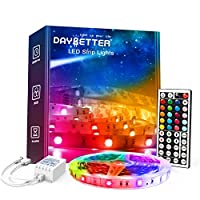 Easy to install and use: 1 roll of 32.8ft led lights more easy to install and connect Color changing: use the 44 keys remote to change at least 120 colors Cut and reconnect: use the connectors can reconnect the led strip lights to finish your project...