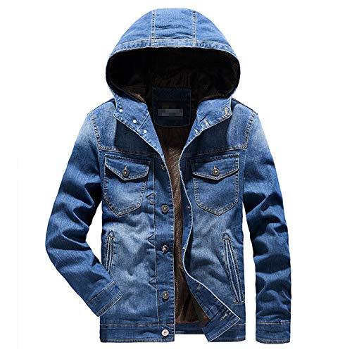 Los hombres Jeans Chaquetas con capucha Abrigo Otoño Denim Outwear Ropa de los Hombres de la Moda de la Ropa de Calle
