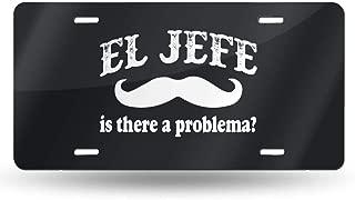 NDUWEBN0sijwsw El Jefe -The Boss in Spanish Funny Mexican Custom License Plate