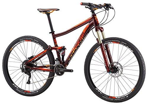 Mongoose Salvo Pro Adult Mountain Bike, 29-Inch Wheels, Red, 18-Inch/Medium Frame