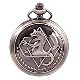 Fullmetal Alchemist Merch Pocket Watch with Chain Box for Cosplay Anime Accessories