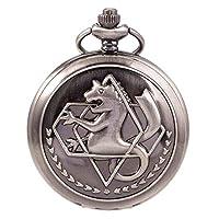 フルメタル Alchemist Merch 懐中時計 チェーンボックス付き コスプレアニメアクセサリー M ブラック