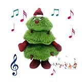 Christmas Glowing Plush Toys with Lights Electric Funny Animated Singing Dancing Xmas Tree Figurine Doll Fun Santa Claus Stuffed Holiday Decoration Ideal Festive Gift for Kids Friends【Fast Delivery】