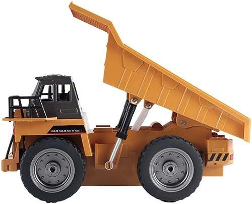 LIJUN Drahtlose 2,4G Fernbedienung elektrische 6-Kanal-Deponie-LKW-Legierung Version von Technikspielzeug
