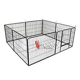 BUNNY BUSINESS Heavy Duty 8 Panel Puppy Play Pen/Rabbit Enclosure