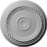 Ekena Millwork CM07AL Medallón de techo pequeño de Alejandría de 7 cm de diámetro exterior x 1 1/8 pulgadas de diámetro interior x 3/4 pulgadas de Ekena Millwork