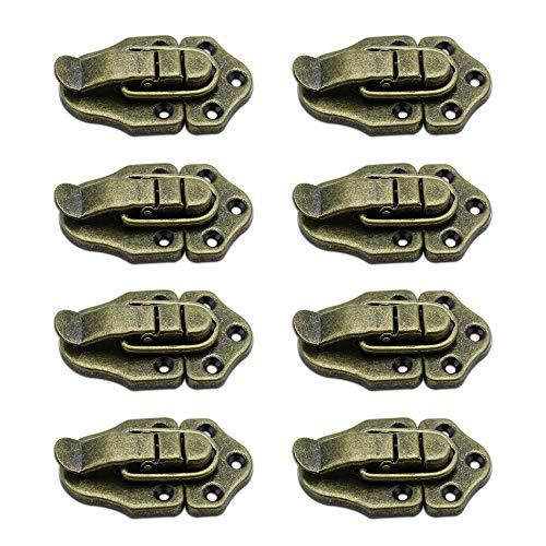 LumenTY 8 Piezas antiguo bronce Cerradura Cierre para Hardware Gabinete Cajas /caja de herramientas/maleta/de la joyería caja de madera