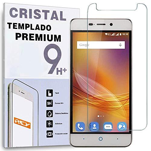 REY Protector de Pantalla para ZTE Blade A452 Cristal Vidrio Templado Premium