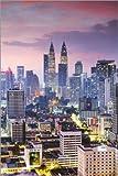 Poster 61 x 91 cm: Twin Towers bei Sonnenuntergang, Kuala
