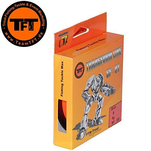 TFT Transform Line SF-01 200m Fluo rot - Angelschnur zum Forellenangeln, Monofile Angelschnur, Forellenschnur, Monofilschnur, Durchmesser/Tragkraft:0.20mm / 5.17kg Tragkraft