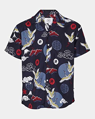 Kronstadt Cuba s/s Exotic Camisa, Blue Storck, XXL para Hombre