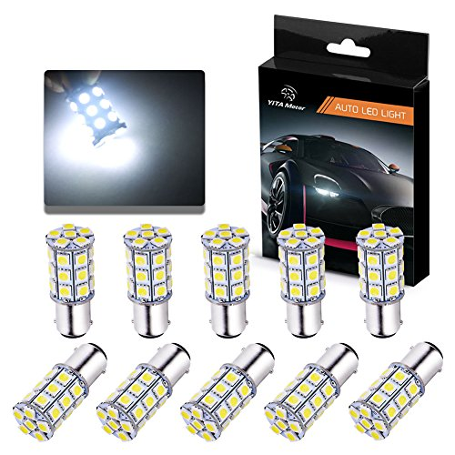 YITAMOTOR 10 X BA15D 5050 27SMD LED Marine Boat RV Xenon White Light 1004 1142 1076 1130 1176