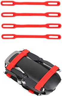 Tineer 4pcs Fixed Holder Propeller Props Blades Stabilizers Protection for DJI Mavic AIR Drone Propeller Fixed Clip Accessory (Red)