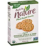 Hearty and full of our roasted garlic and herb blend flavor, these crunchy creations are made with organic ingredients like whole wheat flakes, whole brown flax seed, and sprinkled with sea salt Pair with a simple piece of cheese or your favorite top...