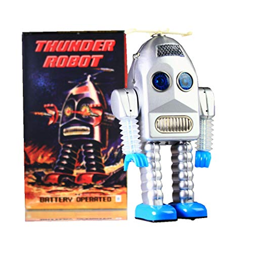 TR2015 Tin Toy Robot de Thunder Battery Operated Espace Toy New Retour Argent