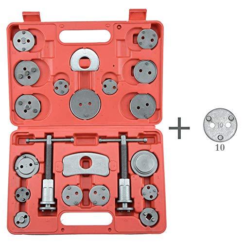 CNWOOAIVE 22 TLG Bremskolbenrücksteller Satz, Bremskolben Rücksteller Spindel KFZ Werkzeug für Alle Gängigen Automarken