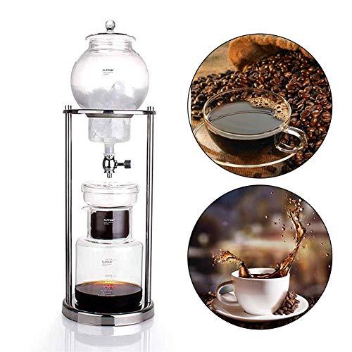 Funihut Cold Drip Coffee Maker, Máquina de Goteo de Agua de 600 ml, Reutilizable, Filtro de Cristal, Utensilios de expreso café gotero para cafetera