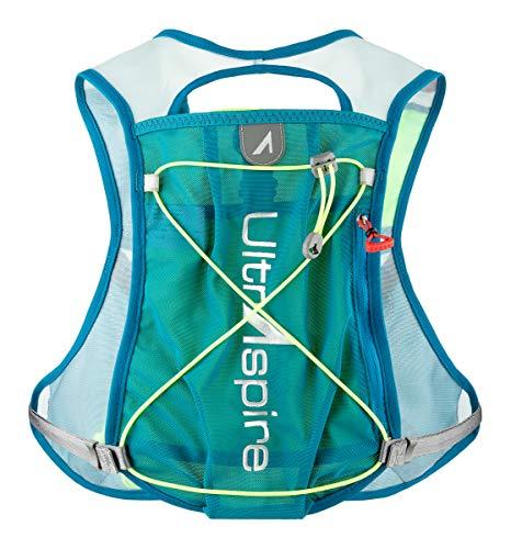Ultraspire Spry 3.0 mochila de hidratación | chaleco de carreras minimalista | hasta 2,1 L de capacidad de fluido, Universal (Chest Size: 26″-48″), Azul/Lima