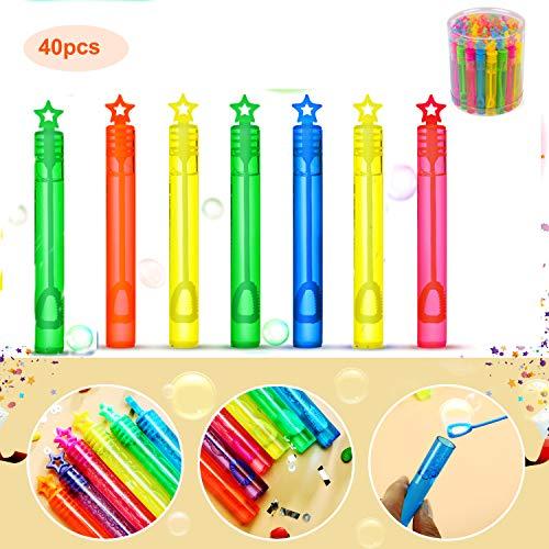 Ucradle 40pcs Seifenblasen Set, Party Seifenblasen Hochzeit Bubbles Seifenblasen Kinder für Mitgebsel Kindergeburtstag Gastgeschenke, Sommer Outdoor Geschenke für Mädchen Jungen