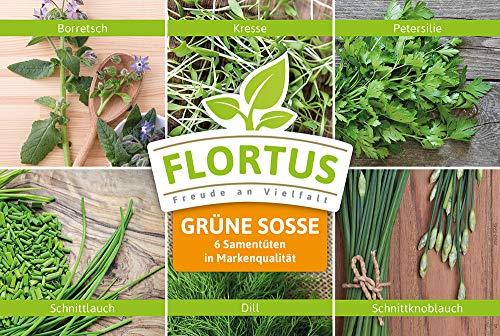 Flortus 2000-0245 Grüne Soße-Set: Grüne Soße Mix mit 6 Sorten (Grüne Soßenmischung)